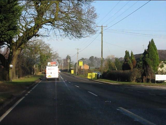 A49 north of Sandybrow traffic lights
