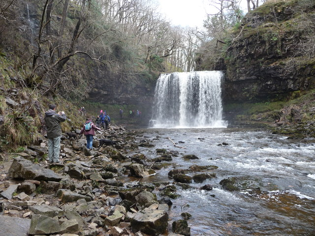 Sgwd yr Eira waterfall on the  Afon Hepste