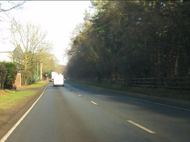 A49 in woodland near Nunsmere