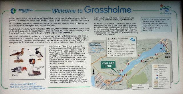Grassholme information board