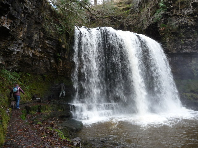The path behind Sgwd yr Eira waterfall