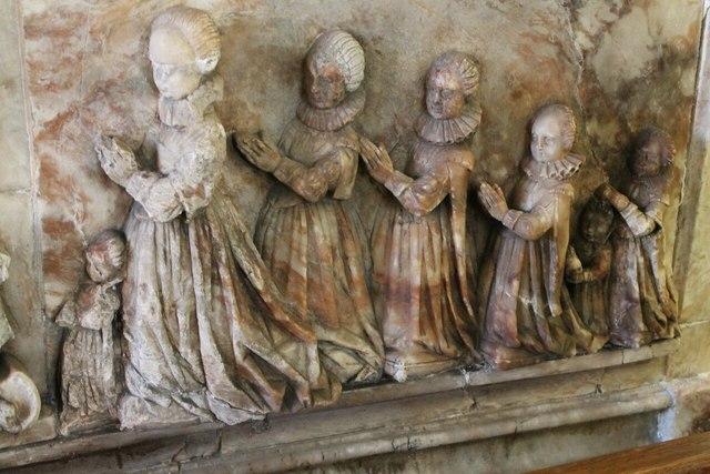 Daughters of Sir John Reade, memorial, Wrangle church
