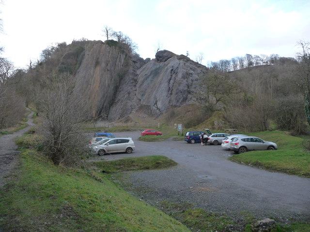 Dinas Rock car park below Craig y Ddinas near Pontneddfechan