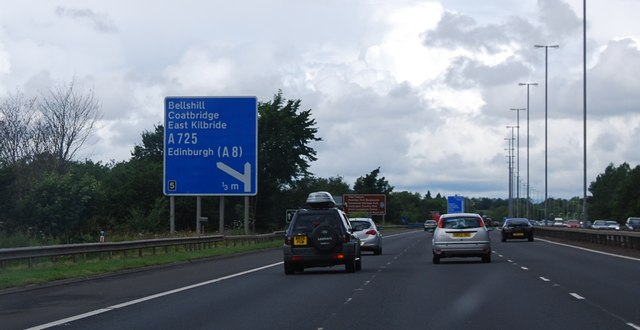 South of Junction 5, M74