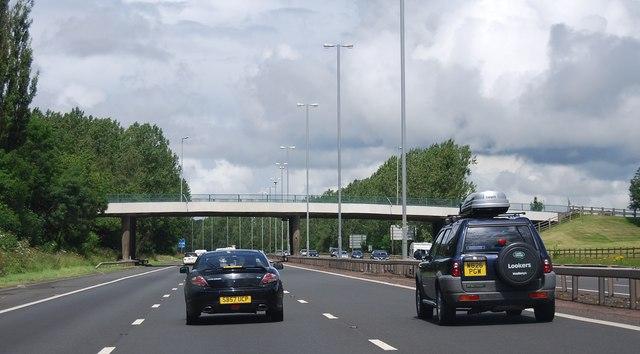 Bridge over the M74