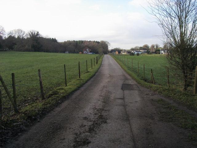 Drive nearing Velmore Farm