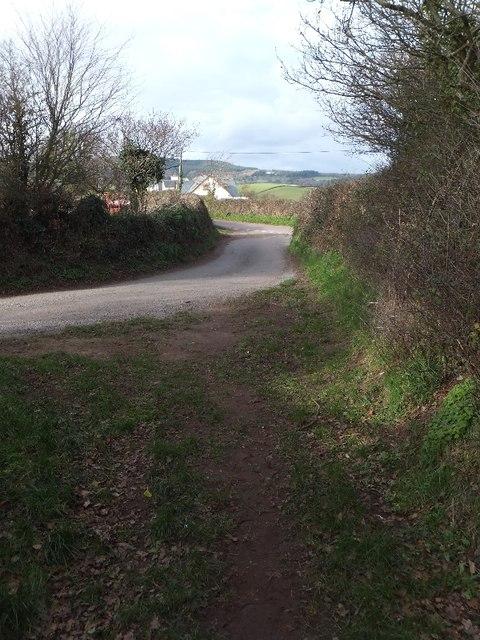 Bridleway joining Branscombe Lane