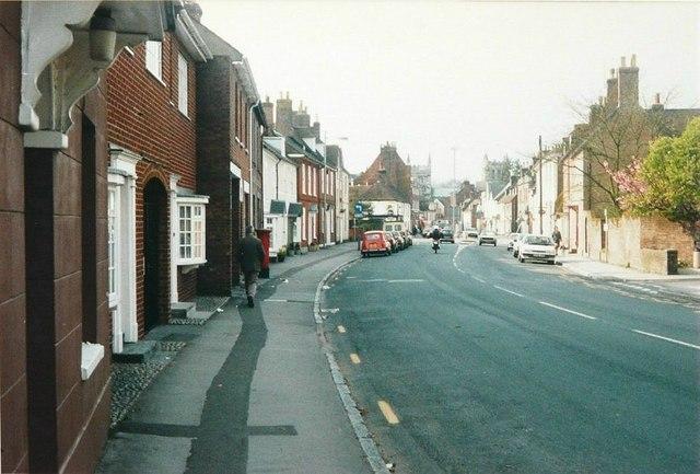 West Borough, Wimborne Minster in 1988