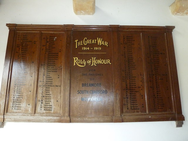 St Mary's Church, Breamore- Roll of Honour