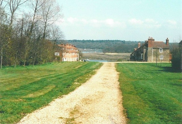 Looking along the path to Bucklers Hard in 1988
