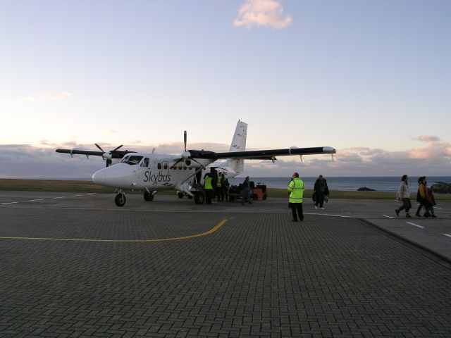 First Flight of the day St Mary's Isles of Scilly