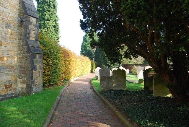Path in the churchyard