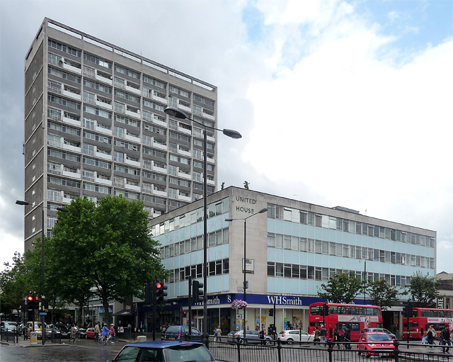 Campden Hill Tower and United House, Notting Hill Gate