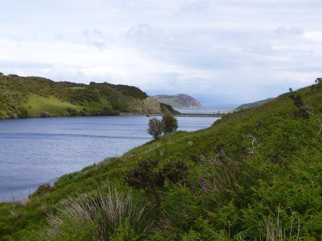 Crosshill Loch looking towards Island Davaar