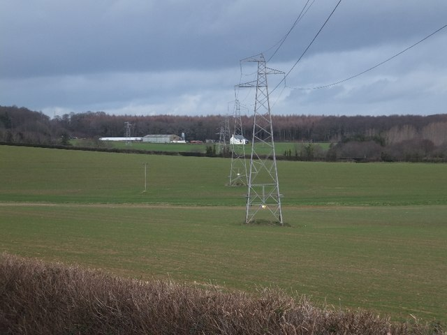Electricity pylons near Mowlish