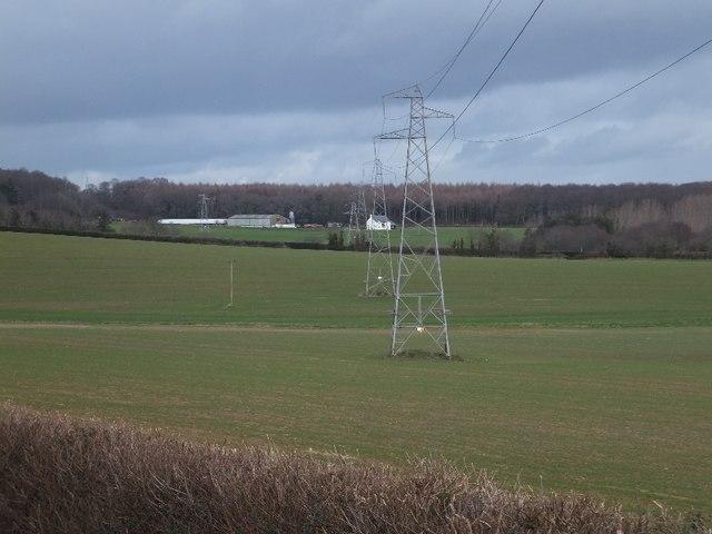 Electricity pylons near Mowlish