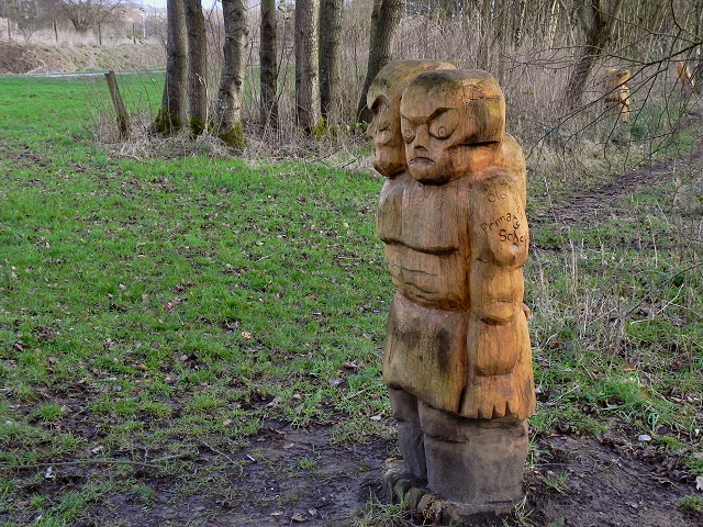 Carved Figures, Burrs Country Park