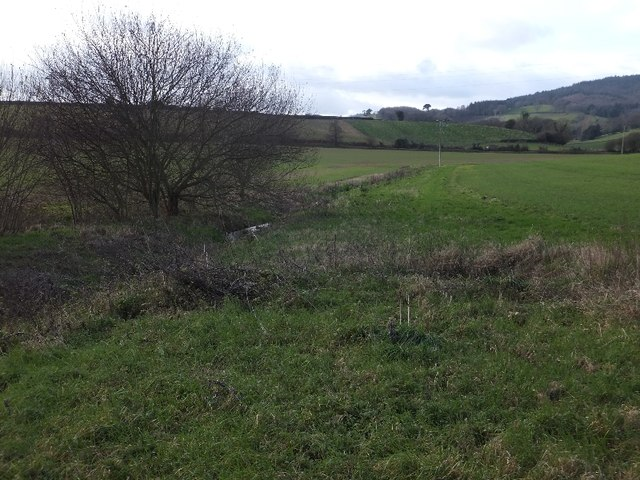 Stream and path at Mowlish
