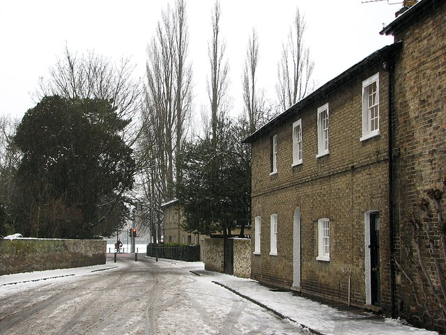 Gresham Road in a snow shower