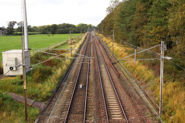 Looking north on the West Coast Main Line