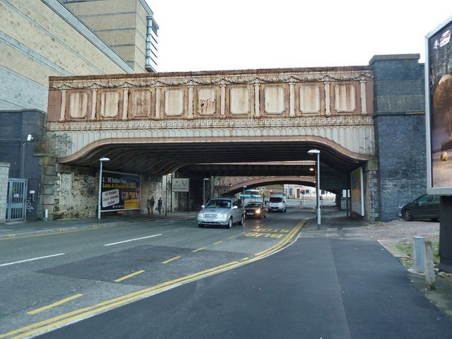 Former railway bridge over Victoria Street, Manchester