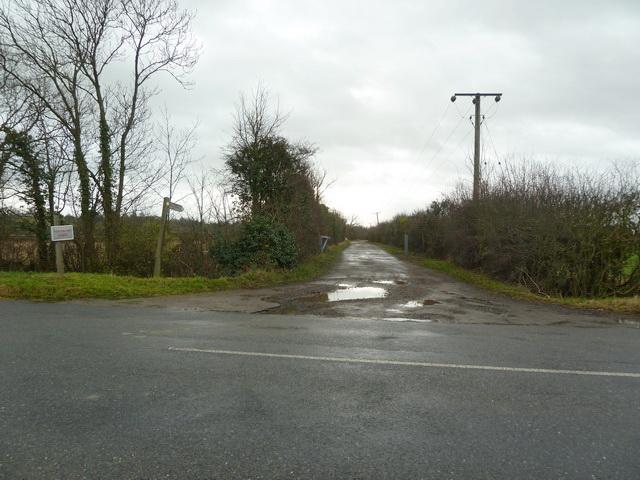 Road to Fernbury Farm off Tempsford Road, Everton