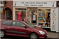 SJ7578 : The Children's Adventure Farm Charity Shop, Knutsford by Roger A Smith