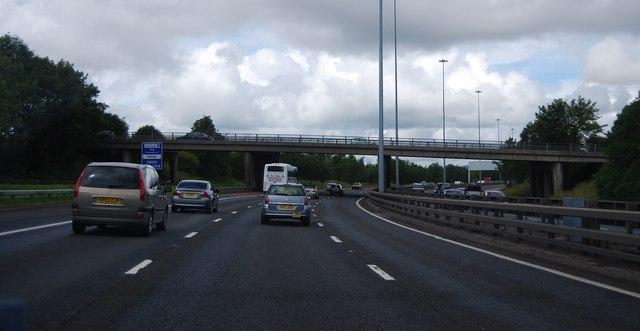 Junction 25 overbridge, M8