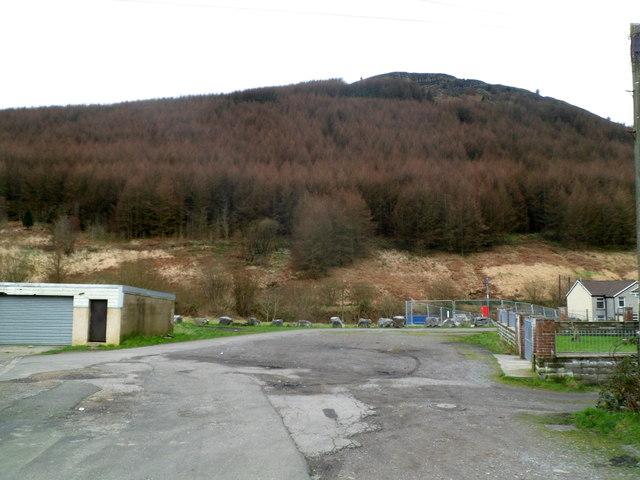Cwm Saerbren viewed from Tynewydd