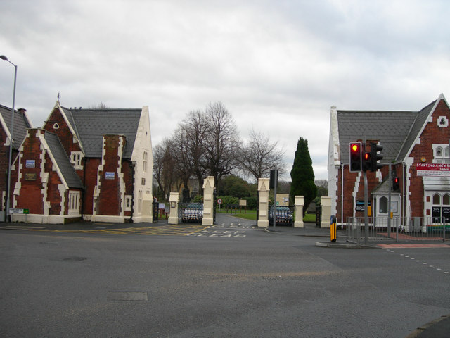 Entrance to the Manchester Road Cemetery
