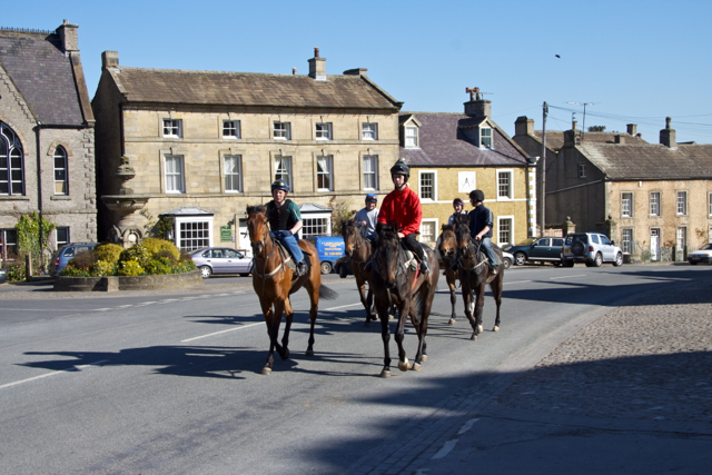 Riding out up West End Middleham