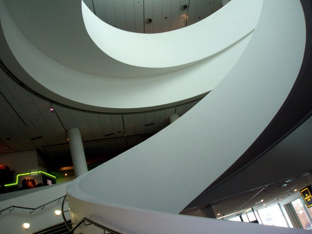 Staircase inside Museum of Liverpool