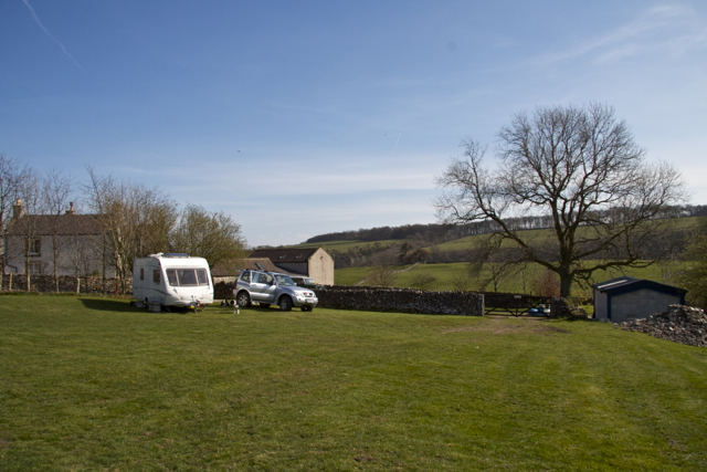 Haddon Grove Farm Camp Site above Lathkill Dale