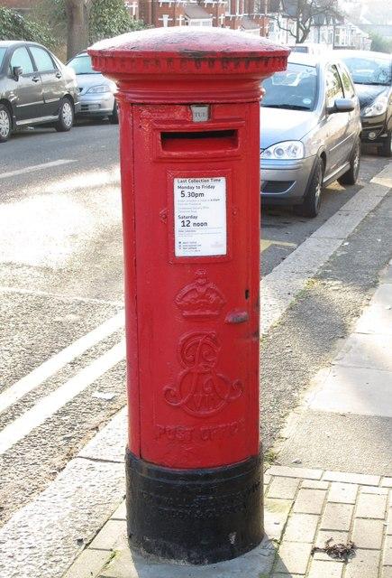 Edward VII postbox, Finchley Lane / Alexandra Road, NW4