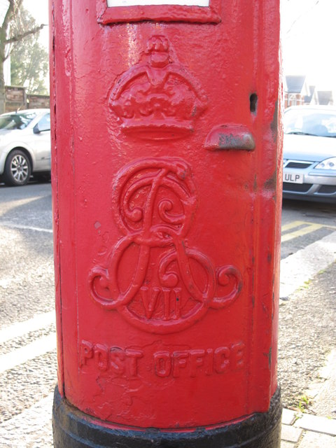 Edward VII postbox, Finchley Lane / Alexandra Road, NW4 - royal cipher