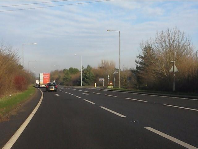A49 approaching Millington Lane