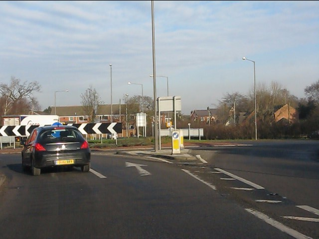 A49 at Weaverham roundabout