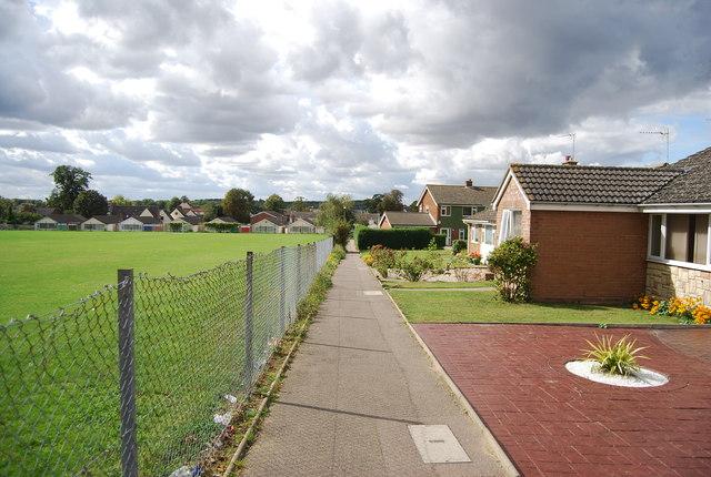 Footpath in Claydon