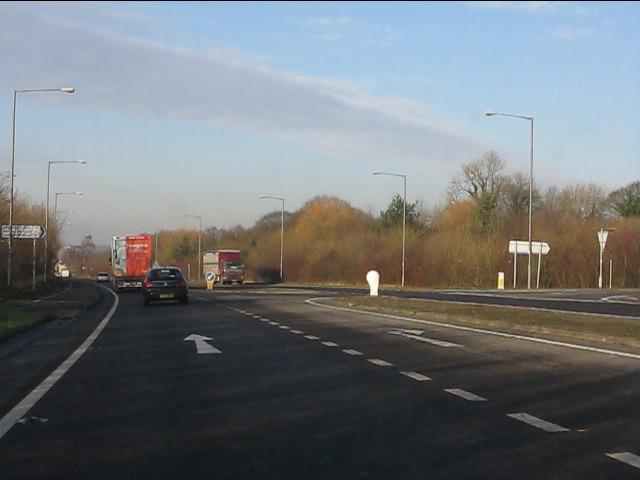 Sandy Lane junction, A49