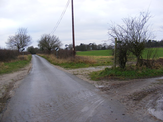 The Grove and the footpath to Chapel Lane