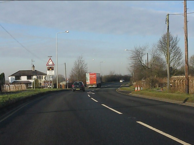 A49 approaching Acton Lane