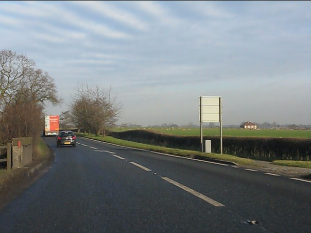 A49 crosses Whitley Brook