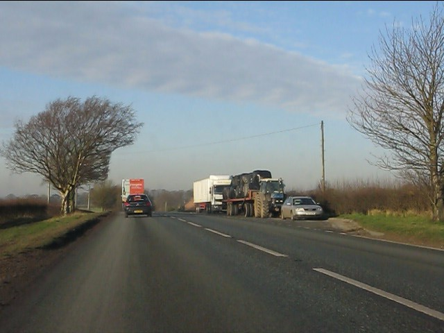 Southbound layby on the A49