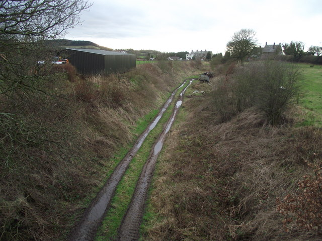 Track of a dismantled railway line