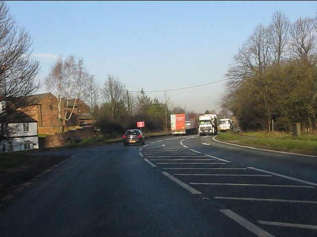 A49 at Grimsditch Lane