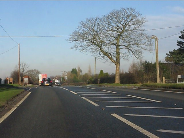 A49 at Pillmoss Lane crossroads