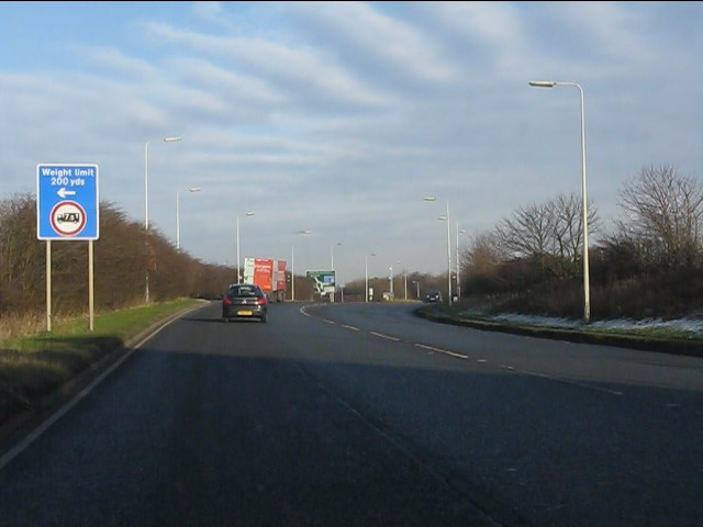 A49 approaching the M56 junction