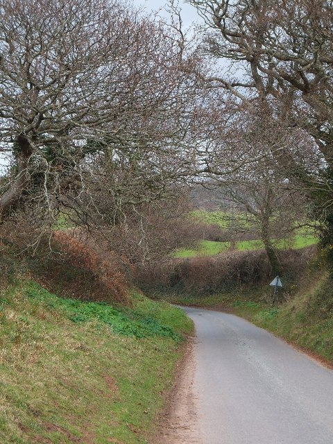 The road to Kennford