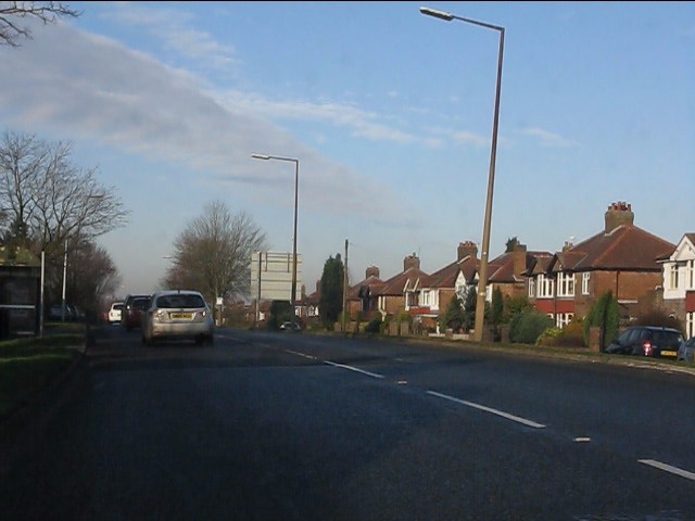 London Road north of the roundabout