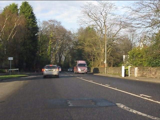 London Road (A49) at Delphfields Road